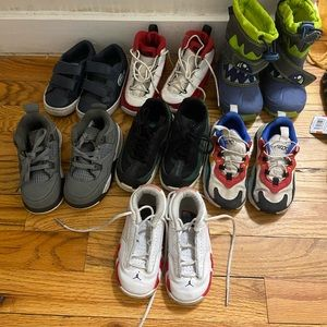 Kid sneakers, snow boots